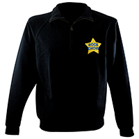 Adult Unisex Zip Neck Sweatshirt
